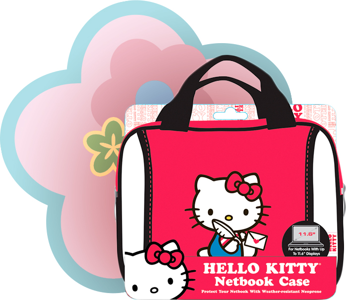 Perhaps a step up from a simple backpack sleeve is the Hello Kitty Neoprene  Mini Case (also available in Pink b789df51cf031