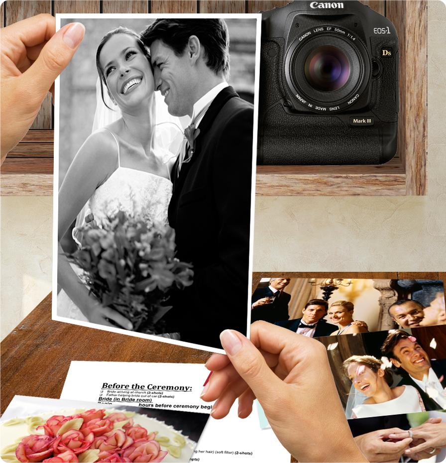 Sample wedding photo shot list