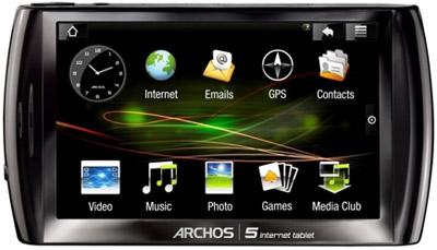 ARCHOS 5 Internet Tablet Front Landscape