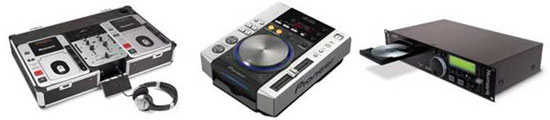 Mix up your CD's with the Fusion 111, a pair of Pioneer CDJ200's, or go rack-style with the Numark MP102