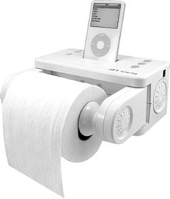 iCarta Bath Tissue Holder and Stereo Dock for iPod