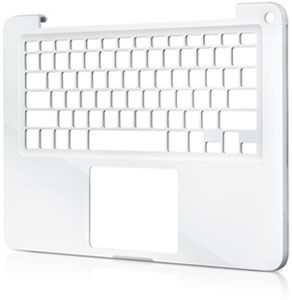 The unibody lower case of the new MacBook