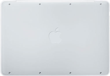 The rubber bottom panel of the new MacBook