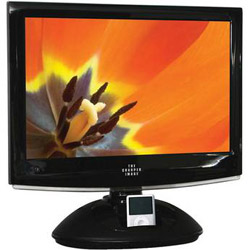 "Sharper Image 19"" LCD TV with DVD Player and iPod Dock"