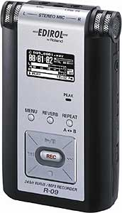 Edirol R-09 - Portable 24-Bit WAV/MP3 Audio Recorder
