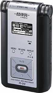 Edirol R-09 - Portable 24-Bit WAV/MP3 Audio Recorder