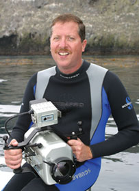 Author and underwater cameraman Steven M. Barsky