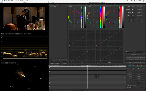 Color's Interface. The video above is a film I shot for Hi Rez Productions, my production company.