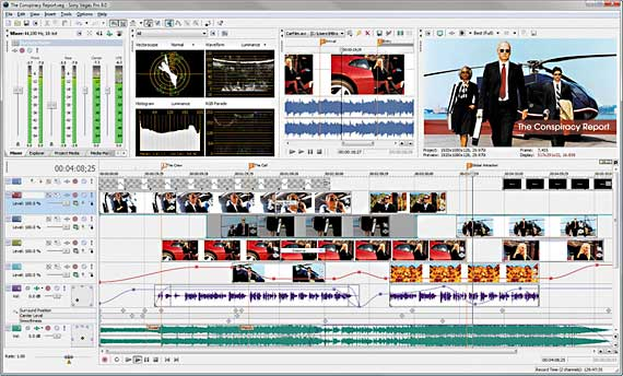 The new Sony Vegas 8 includes Blu-ray recording from the timeline