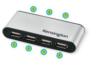 Kensington PocketHub 7-Port USB 2.0 Hub