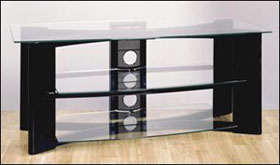 Bell'O High Gloss Black A/V System Furniture