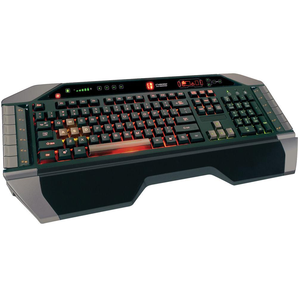Mad Catz Cyborg V 7 Gaming Keyboard For Pc Mcb43107n0b2 04