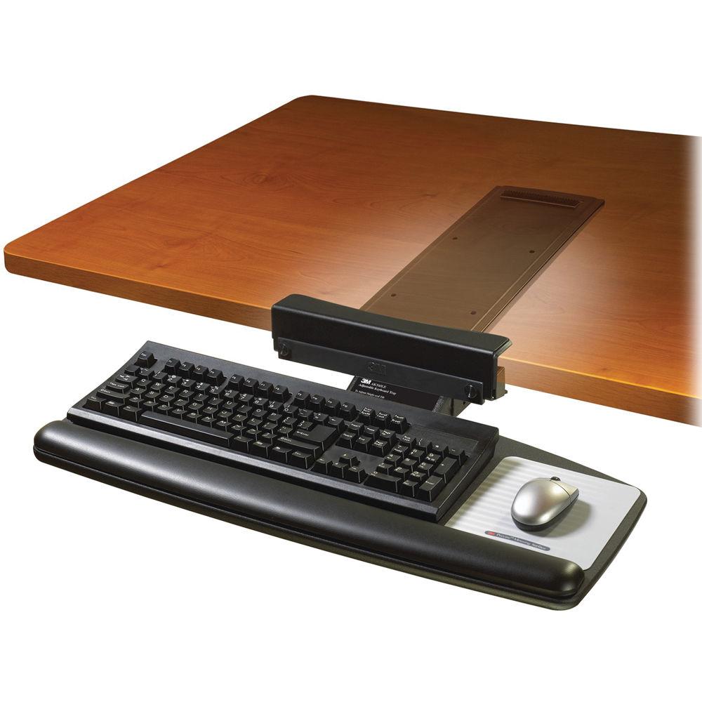 3m Akt65le Adjustable Keyboard Tray With Knob Adjust Arm