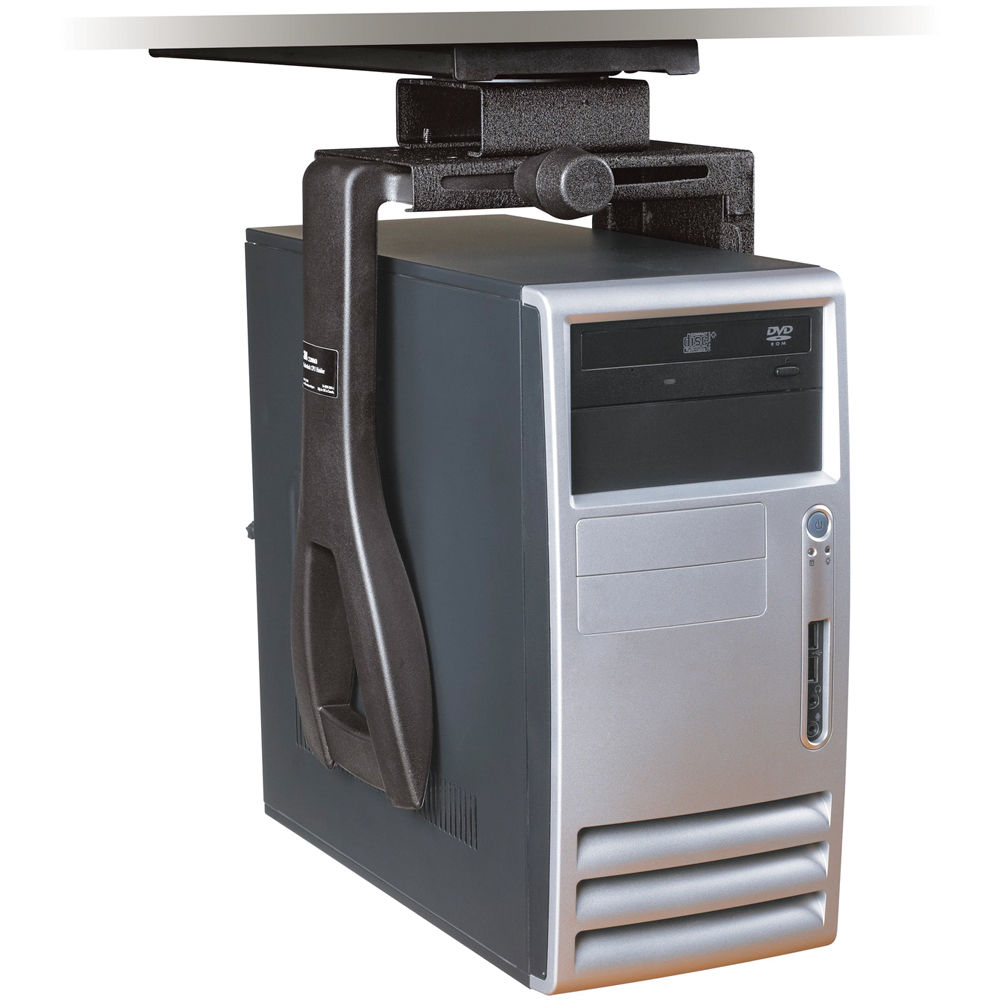 3m Cs200mb Adjustable Under Desk Cpu Mount Cs200mb B Amp H Photo