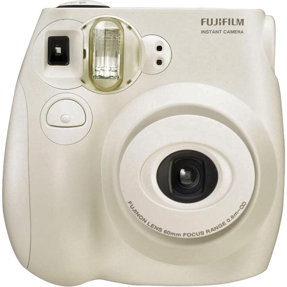 fujifilm instax mini 7s instant film camera white. Black Bedroom Furniture Sets. Home Design Ideas
