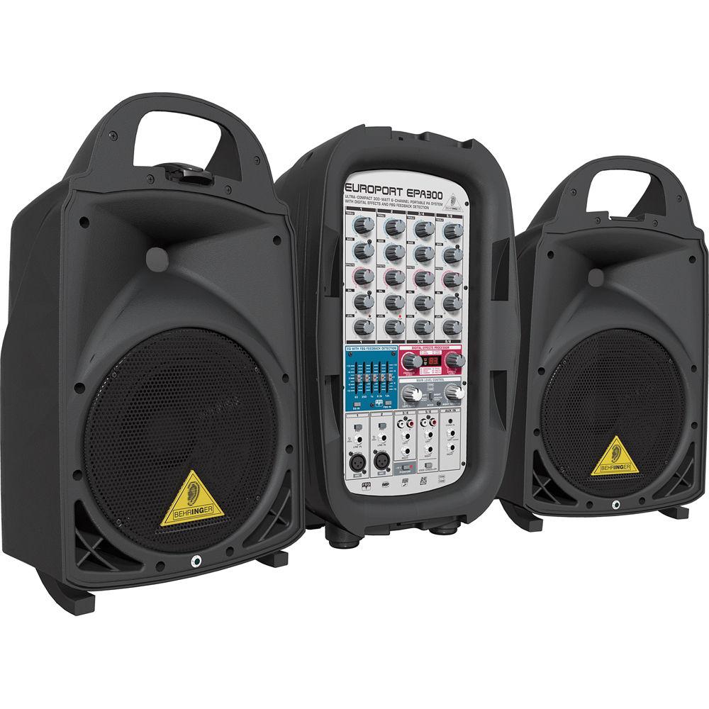behringer epa300 portable pa system epa300 b h photo video