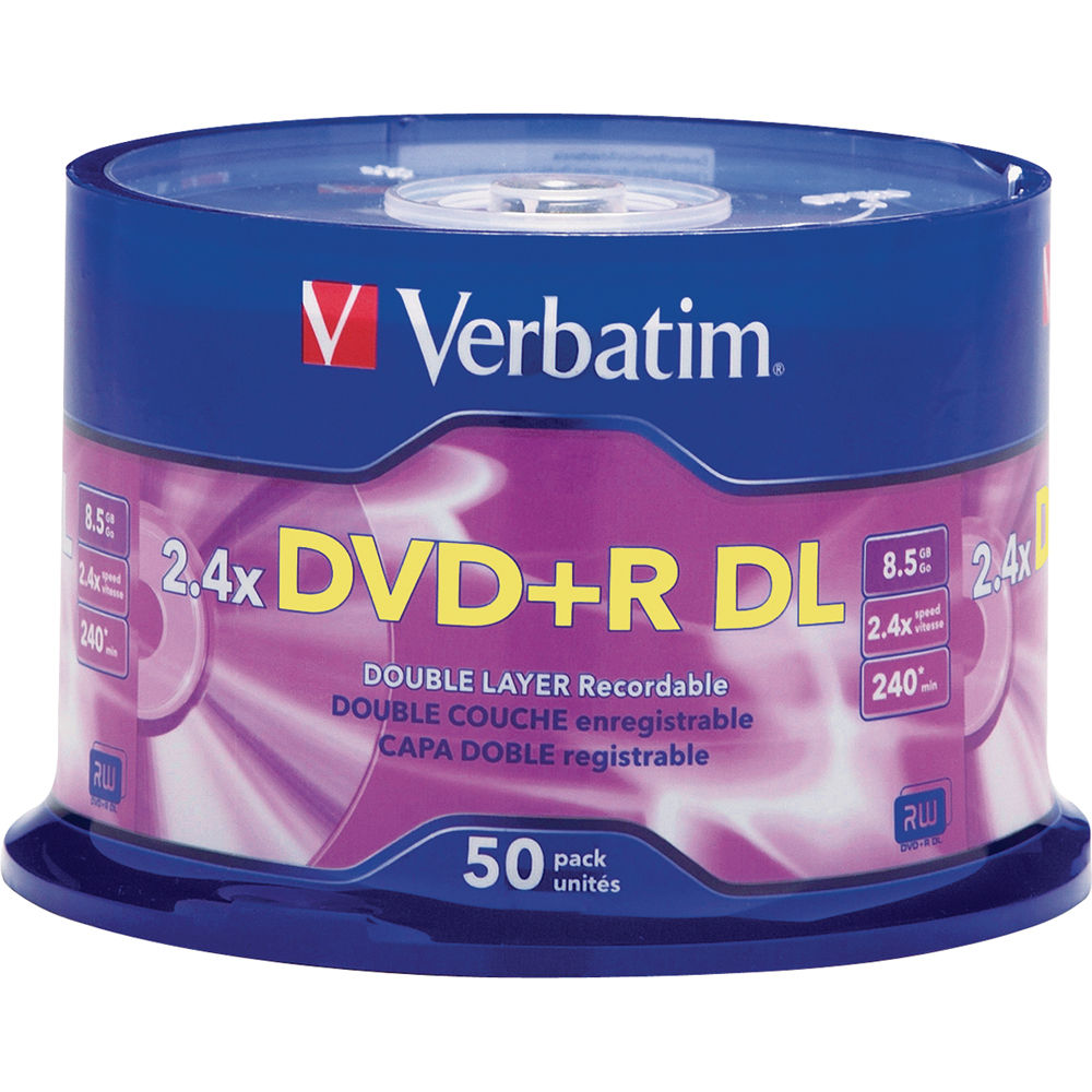 verbatim dvd r double layer recordable disc 96577 b h photo. Black Bedroom Furniture Sets. Home Design Ideas