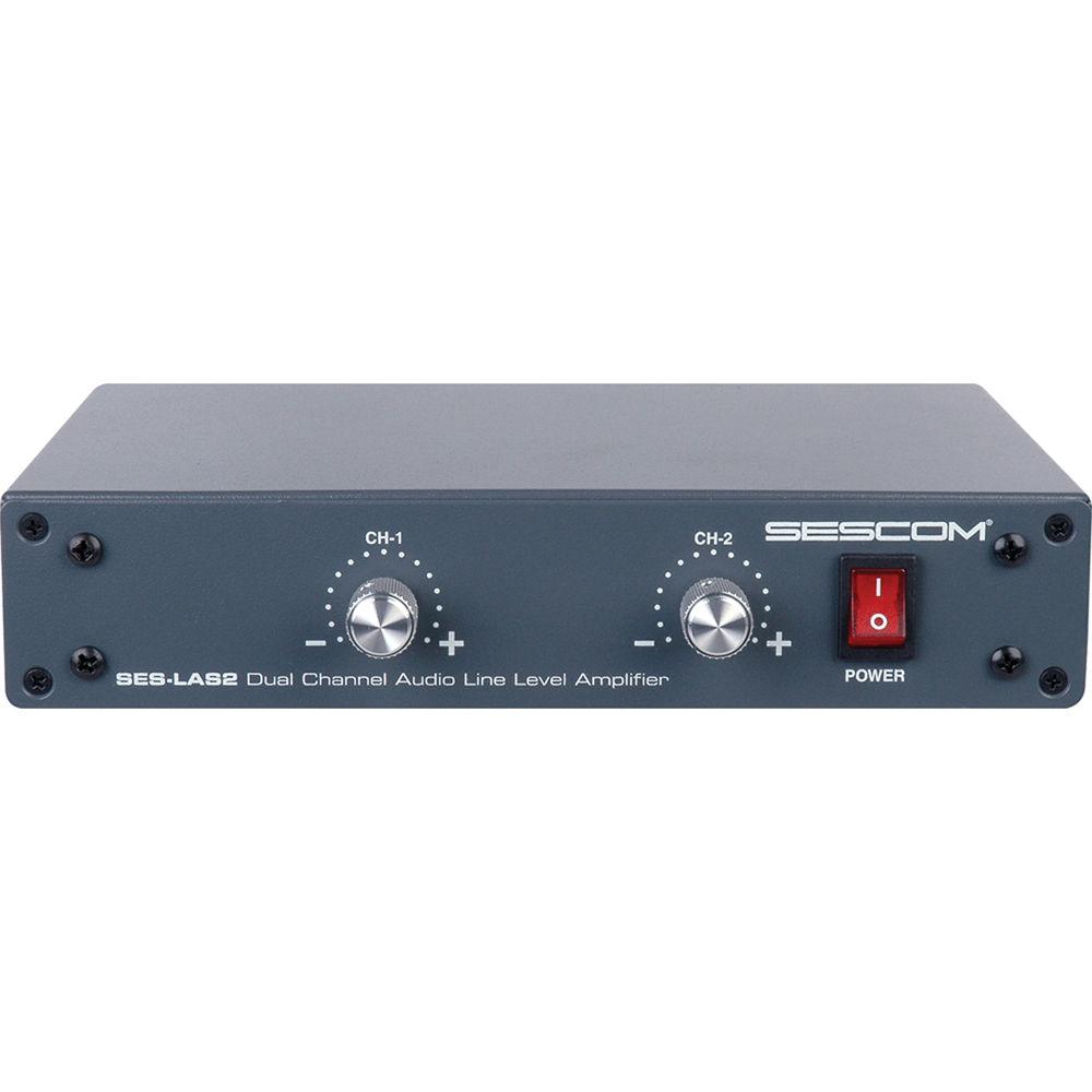 sescom ses las2 dual channel audio line level amplifier ses las2. Black Bedroom Furniture Sets. Home Design Ideas