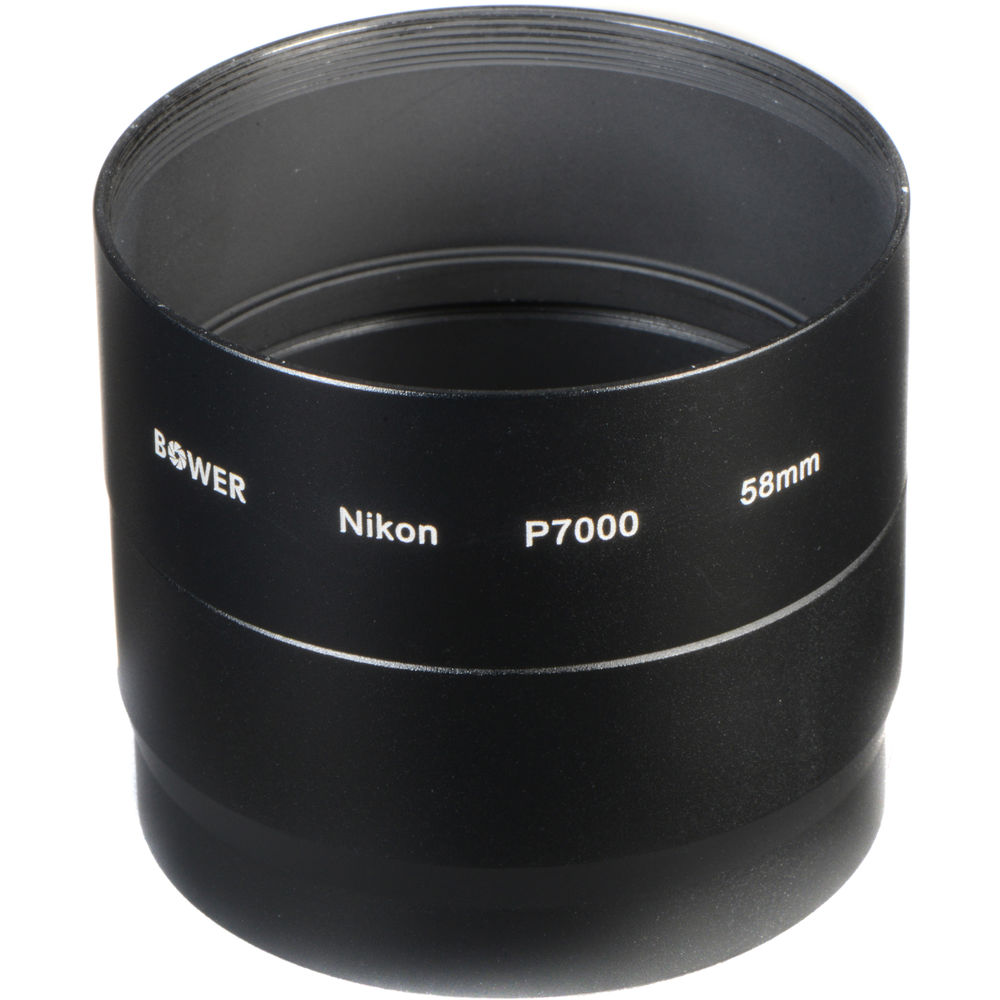 bower 58mm adapter tube for nikon coolpix p7000 p7100 anp7000. Black Bedroom Furniture Sets. Home Design Ideas