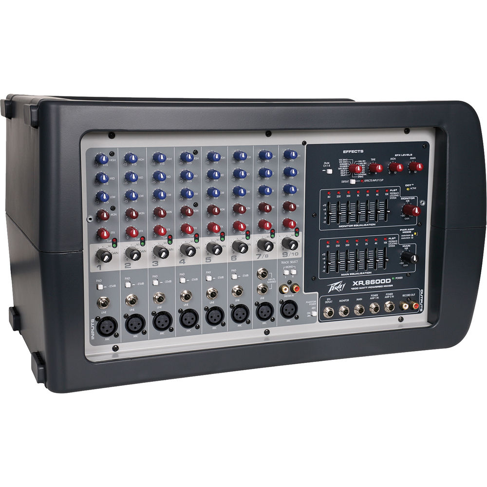 peavey xr 8600d 1200w powered mixer with digital effects. Black Bedroom Furniture Sets. Home Design Ideas