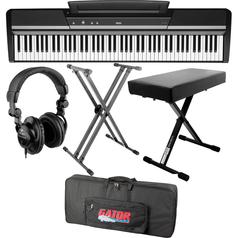 korg korg sp 170s 88 key digital piano value bundle b h photo. Black Bedroom Furniture Sets. Home Design Ideas