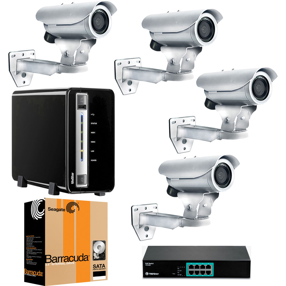 Acti 4 Camera 1 3 Mp Value Outdoor Bundle B Amp H Photo Video