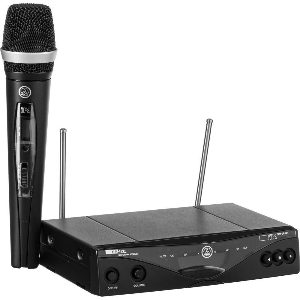 akg wms 470 vocal set wireless microphone system 3305x00370 b h. Black Bedroom Furniture Sets. Home Design Ideas