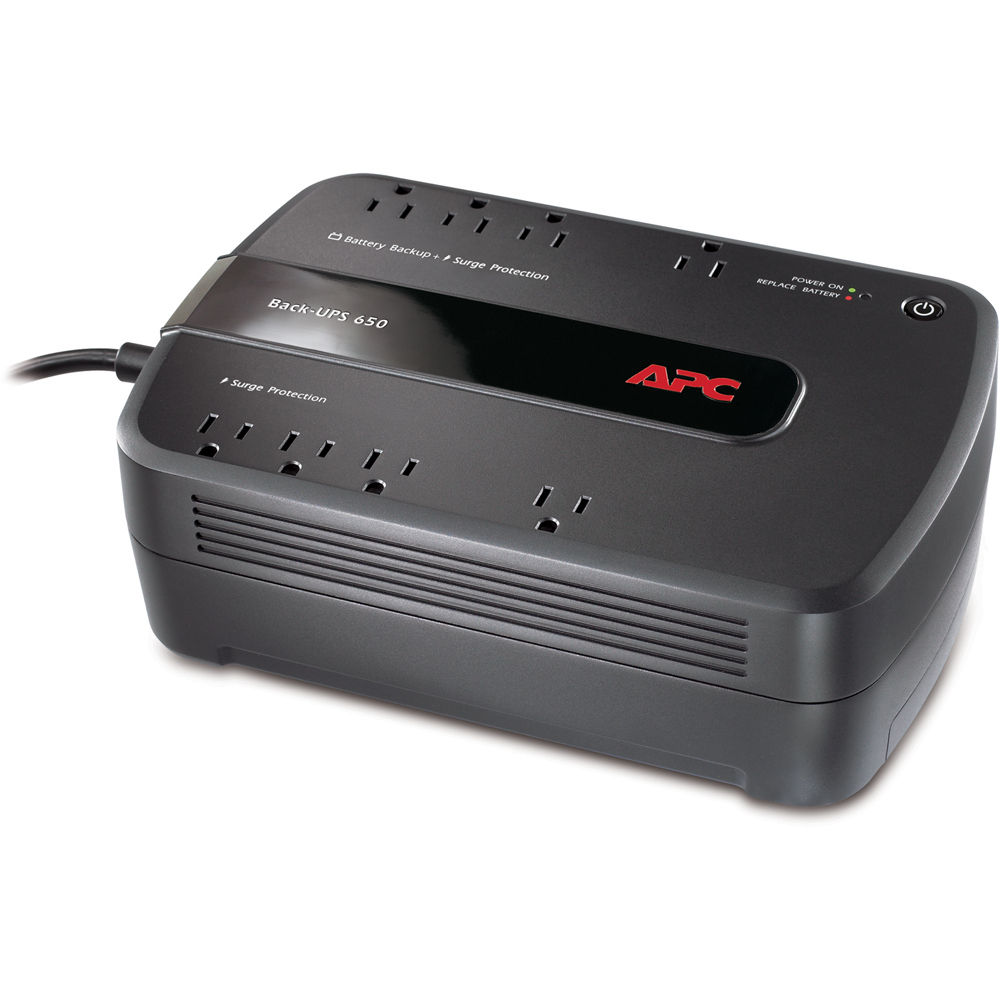 apc back ups 650 8 outlet surge protector and battery be650g1 apc back ups 650 8 outlet surge protector and battery backup 120v