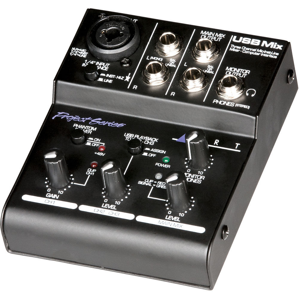 ART USB Mix 3-Channel Mixer and Computer Audio Interface USBMIX