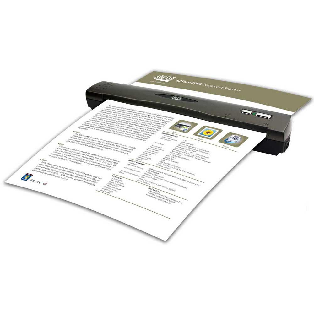 adesso ezscan 2000 mobile document scanner ezscan 2000 bh With mobile document scanner