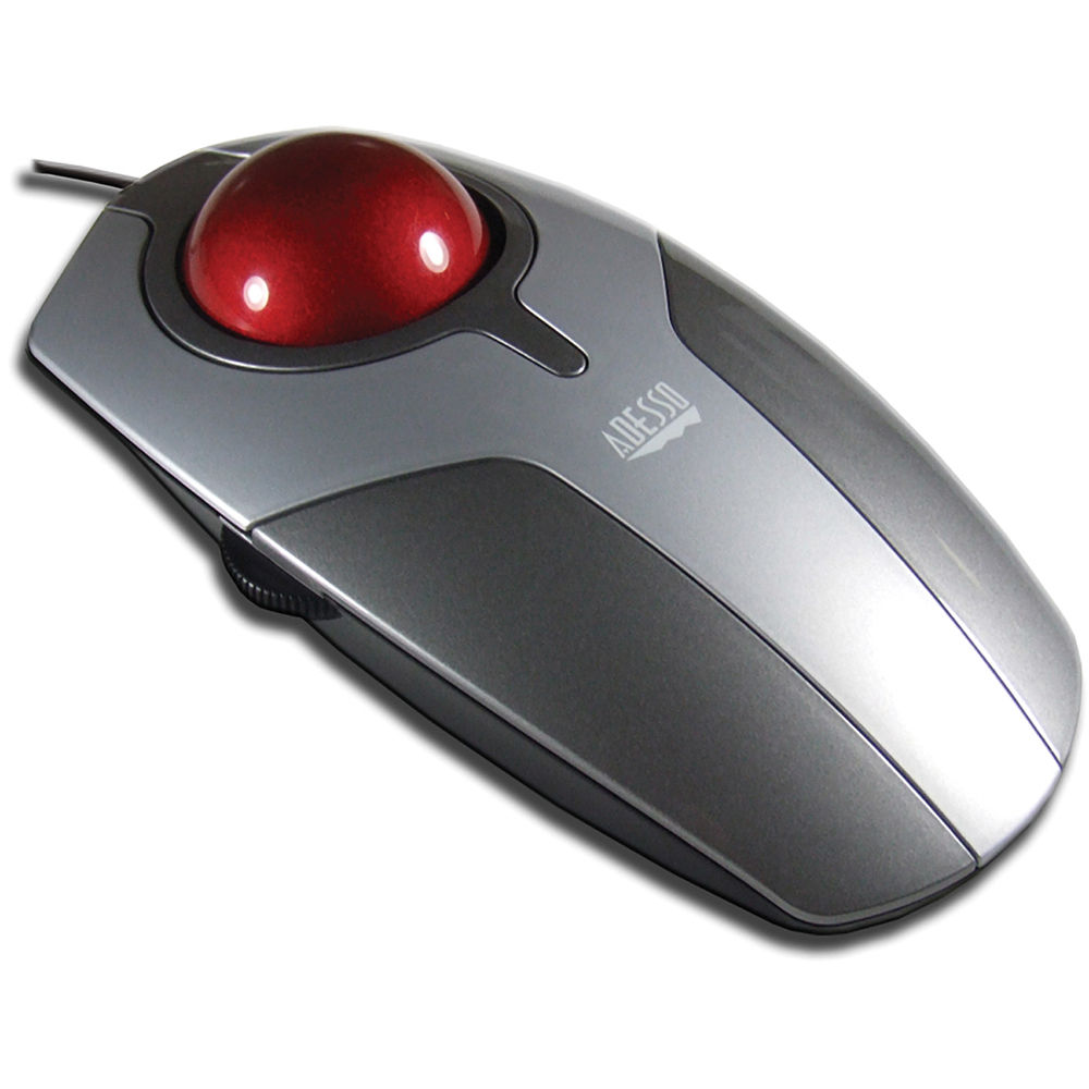 adesso desktop optical trackball mouse with scrolling