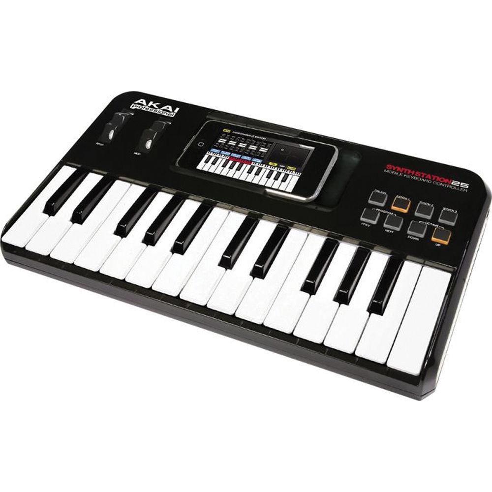 akai professional synthstation25 piano keyboard synthstation