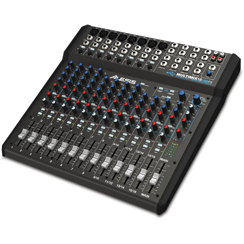 alesis multimix 16 usb fx 16 channel mixer multimix 16 usb fx. Black Bedroom Furniture Sets. Home Design Ideas