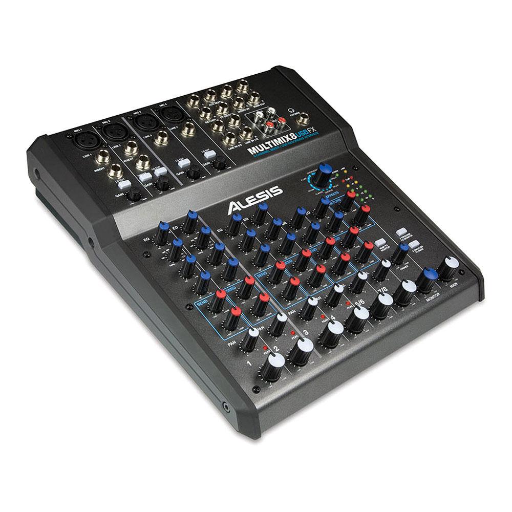 alesis multimix 8 usb fx 8 channel mixer multimix 8 usb fx b h. Black Bedroom Furniture Sets. Home Design Ideas