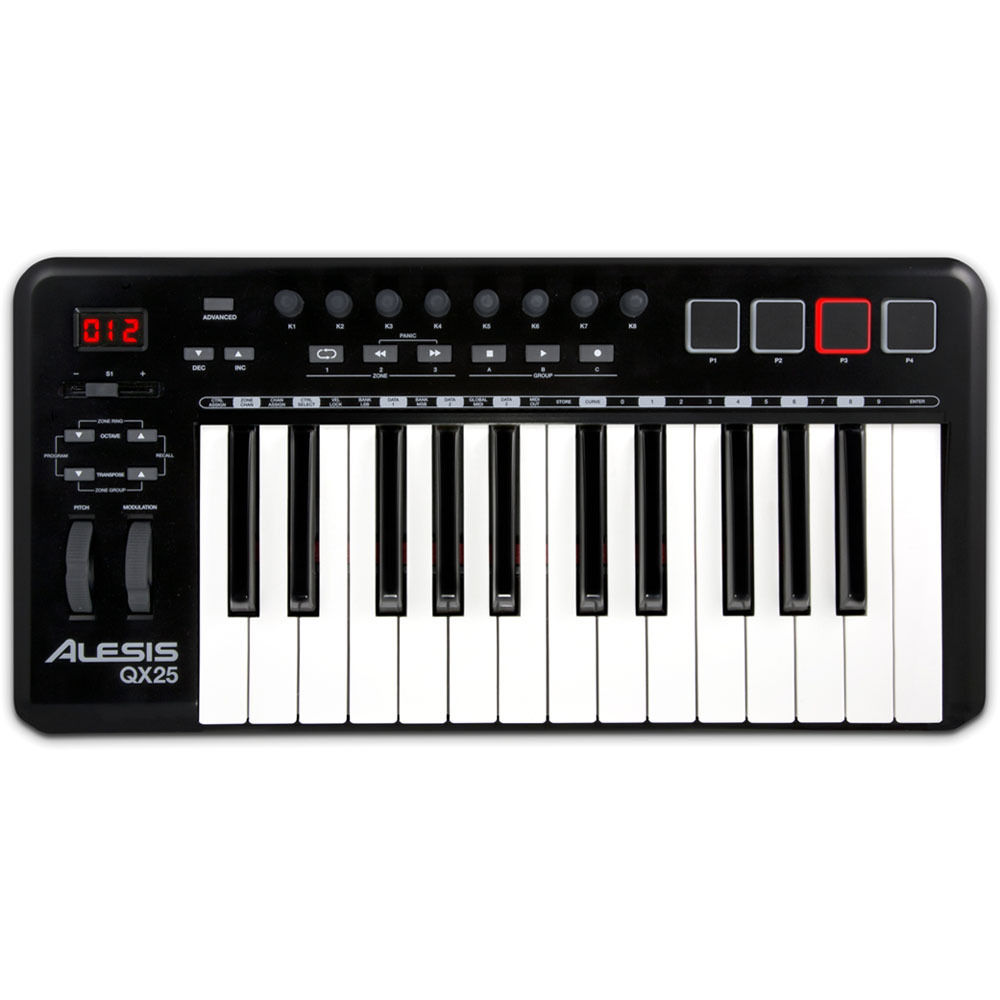 Alesis qx25 25 key advanced midi keyboard controller qx25 b h - Ableton live lite alesis edition ...