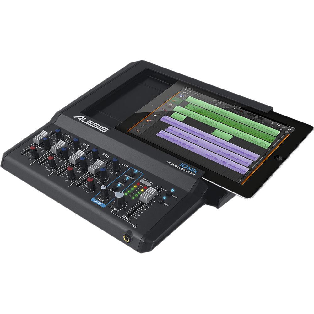 alesis io mix 4 channel recorder for ipad io mix b h photo. Black Bedroom Furniture Sets. Home Design Ideas