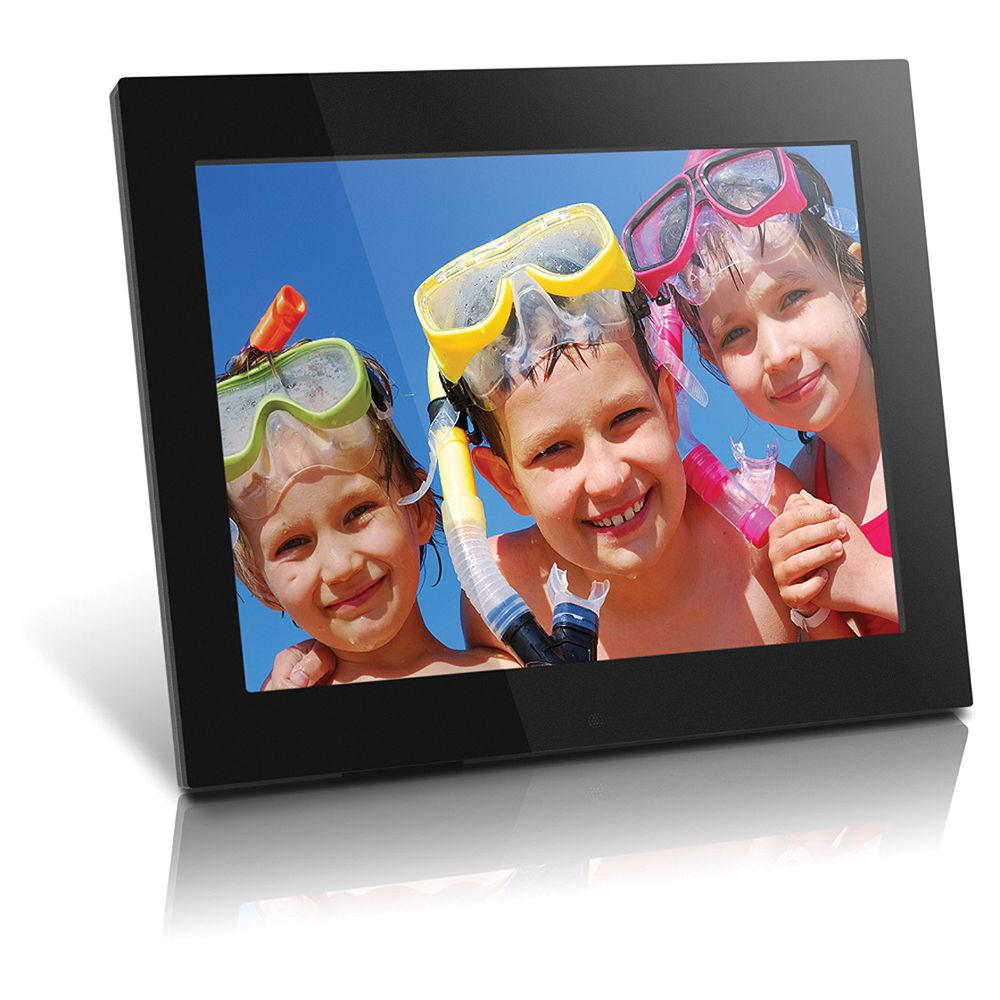aluratek 15 hi res digital picture frame black