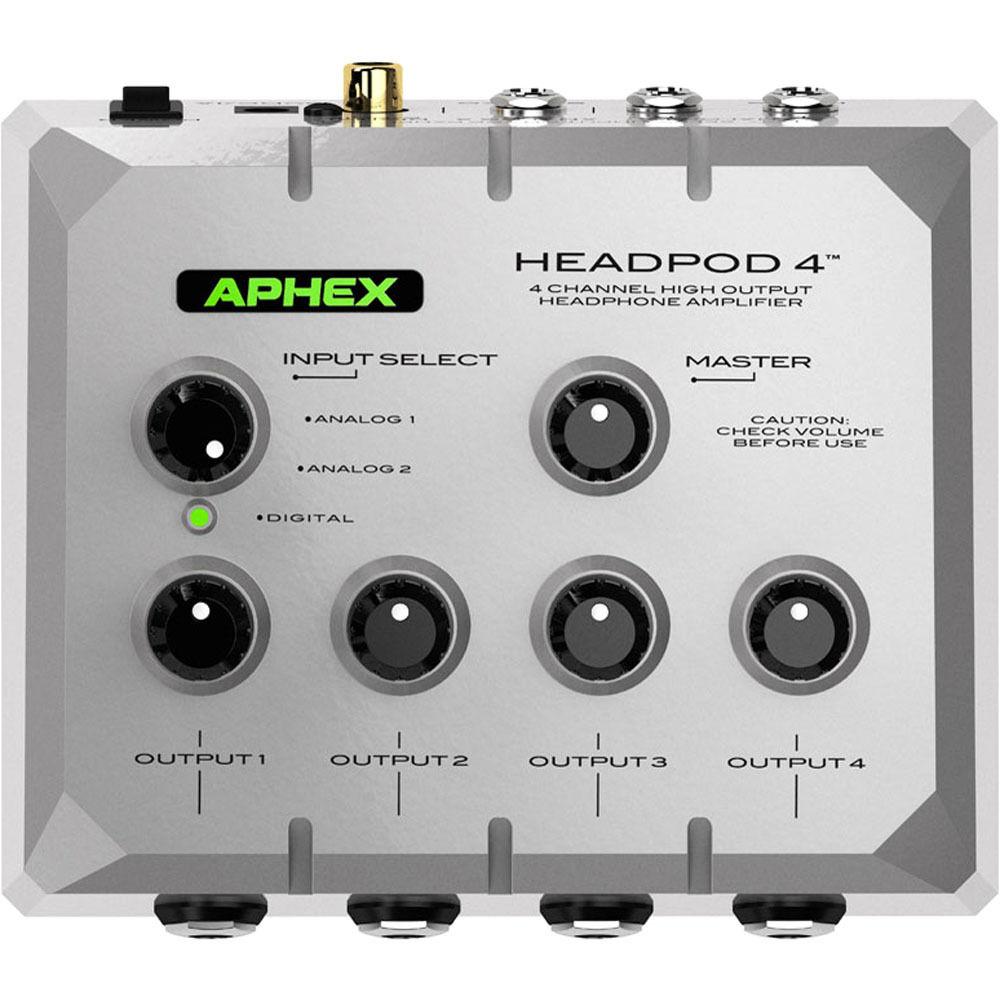 aphex headpod 4 high output 4 channel headphone headpod 4 b h rh bhphotovideo com