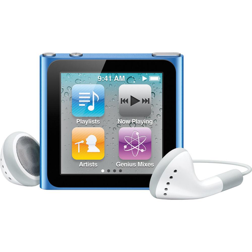 apple 8gb ipod nano blue 6th generation mc689ll a b h photo rh bhphotovideo com iPod 8G Manual Apple iPod Instruction Manual