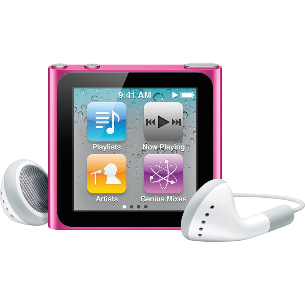 Apple 8GB Refurbished iPod nano 6th Generation (Pink ...