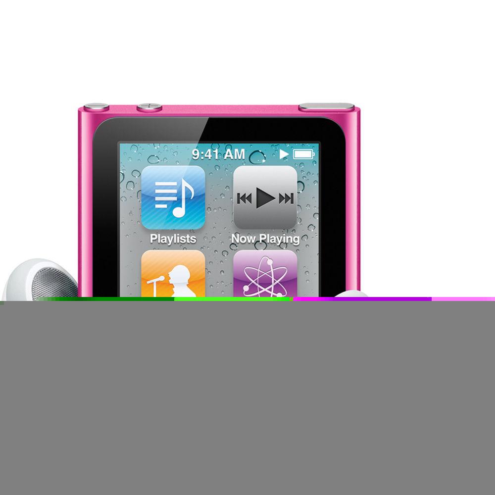 apple 8gb ipod nano pink 6th generation mc692ll a b h photo rh bhphotovideo com apple ipod nano 8gb manual ipod nano 8gb manual pdf
