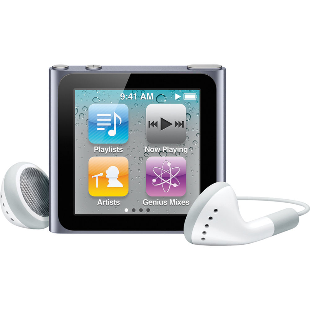 apple 16gb ipod nano graphite 6th generation mc694ll a b h rh bhphotovideo com iPod Nano 1st iPod Nano Recall