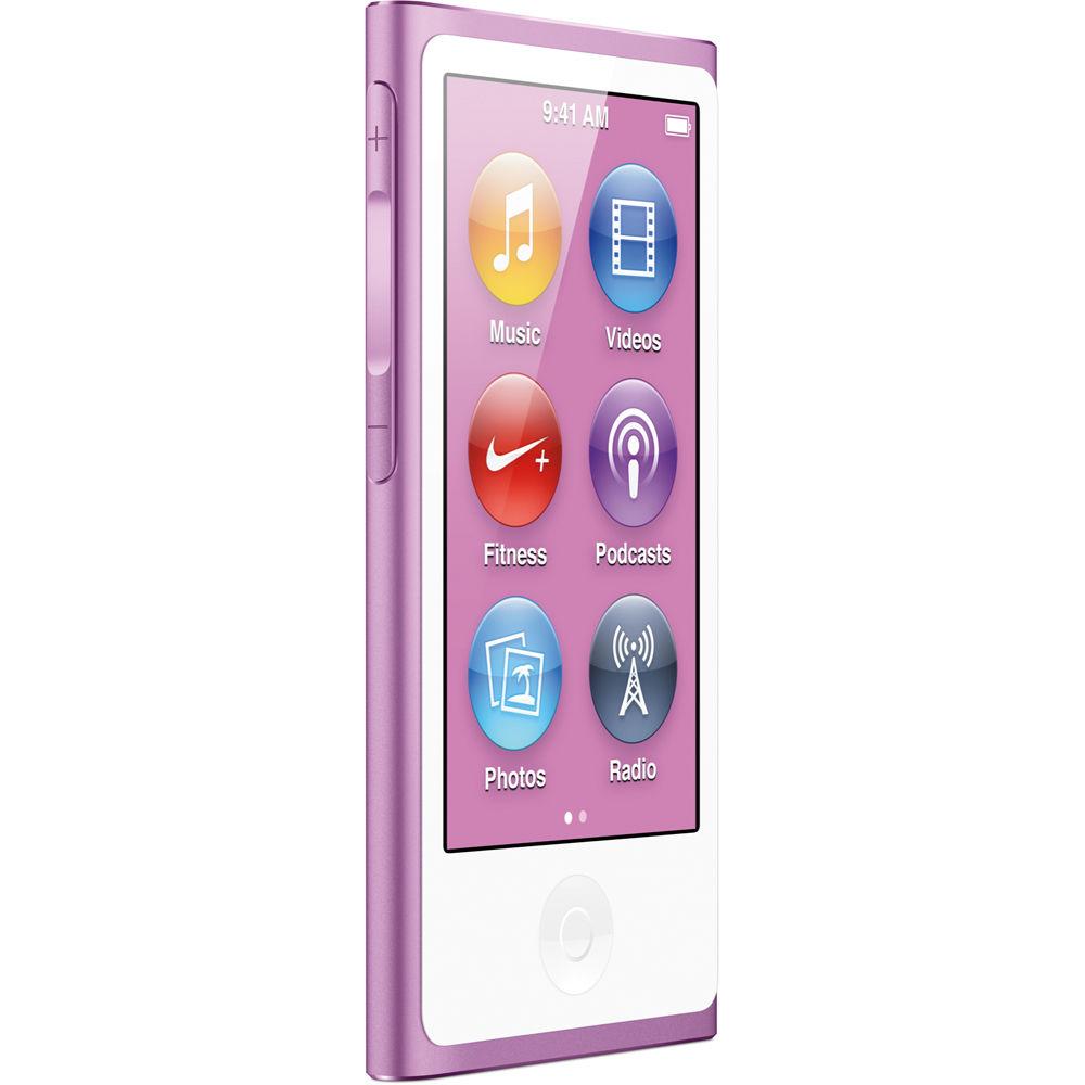 apple 16gb ipod nano purple 7th generation md479ll a b h. Black Bedroom Furniture Sets. Home Design Ideas