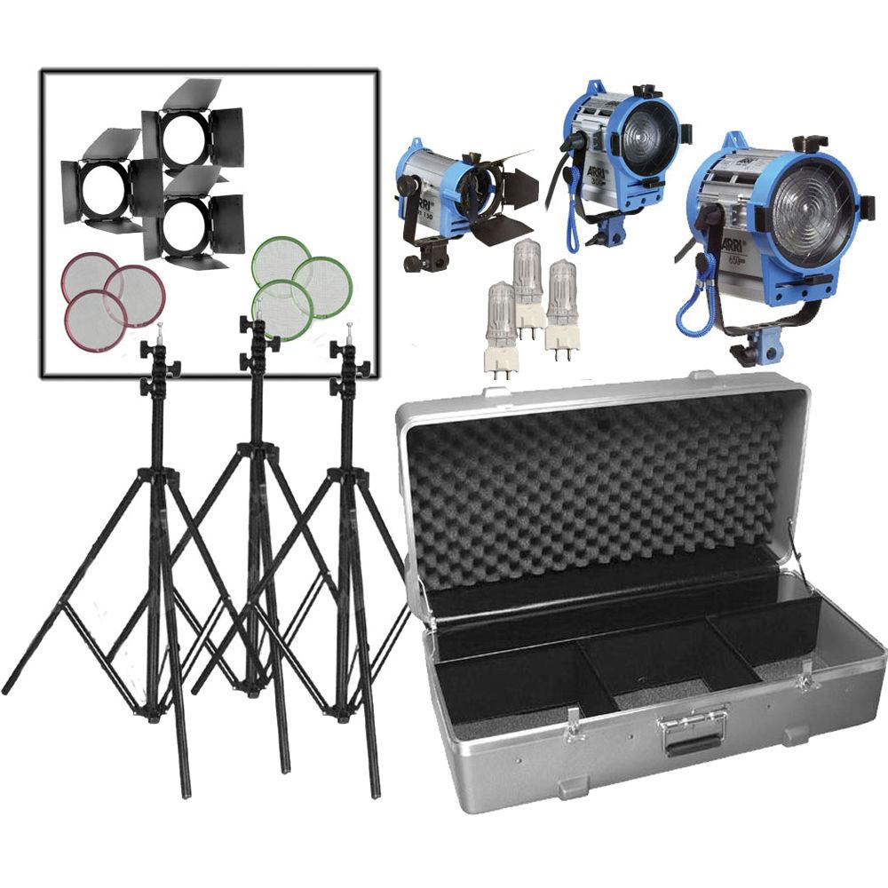 Studio Lighting Kit Amazon: ARRI Compact Fresnel Three-Light Kit LK.0005642 B&H Photo