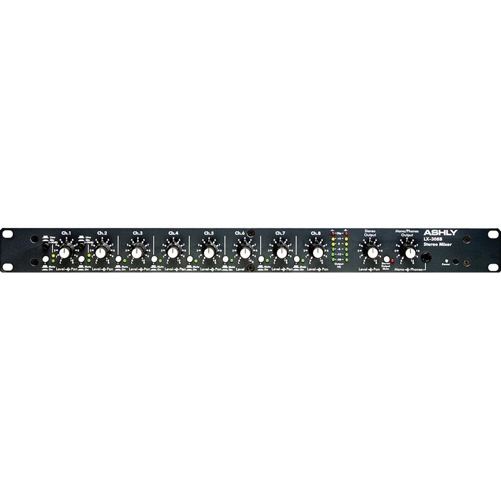 ashly lx 308b stereo line mixer lx 308b b h photo video. Black Bedroom Furniture Sets. Home Design Ideas