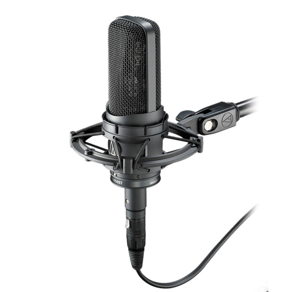 audio technica at4050st stereo condenser microphone at4050st b h. Black Bedroom Furniture Sets. Home Design Ideas