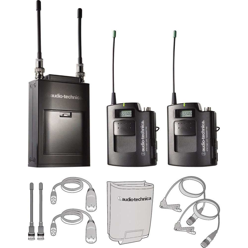 audio technica atw 1821 dual wireless microphone system. Black Bedroom Furniture Sets. Home Design Ideas