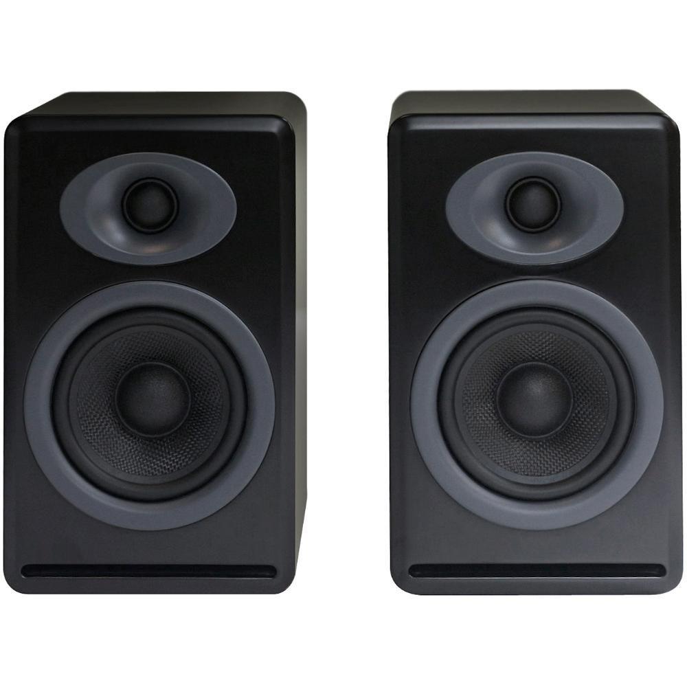 Audioengine P4 2 Way Passive Bookshelf Speakers Black Pair