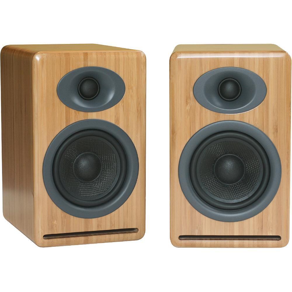 Audioengine P4 2 Way Passive Bookshelf Speakers Bamboo Pair