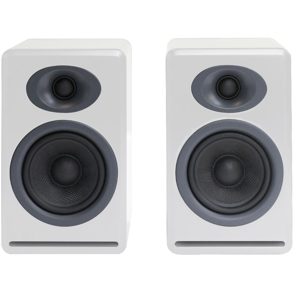 Audioengine P4 2 Way Passive Bookshelf Speakers White Pair